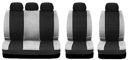 9ab7041ab23167 Sakura BY0802 Car Seat Covers Universal Fit, Full Set, Black/Grey ...