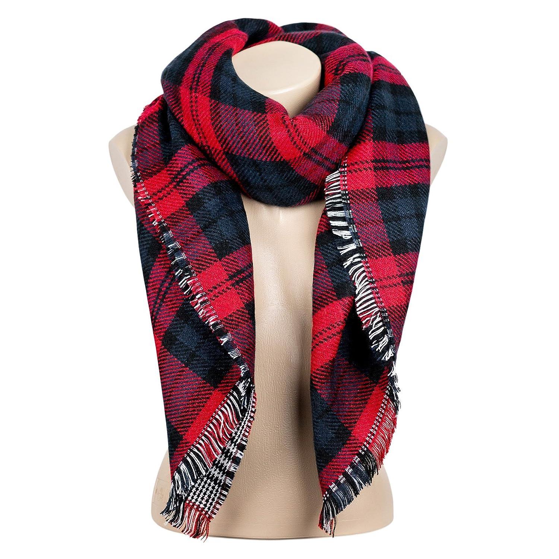 Automne//Hiver /écharpe de femmes /Écharpe automne Foulard dhiver Surdimensionn/é dans la couleur noir//blanc de la marque MyBeautyworld24