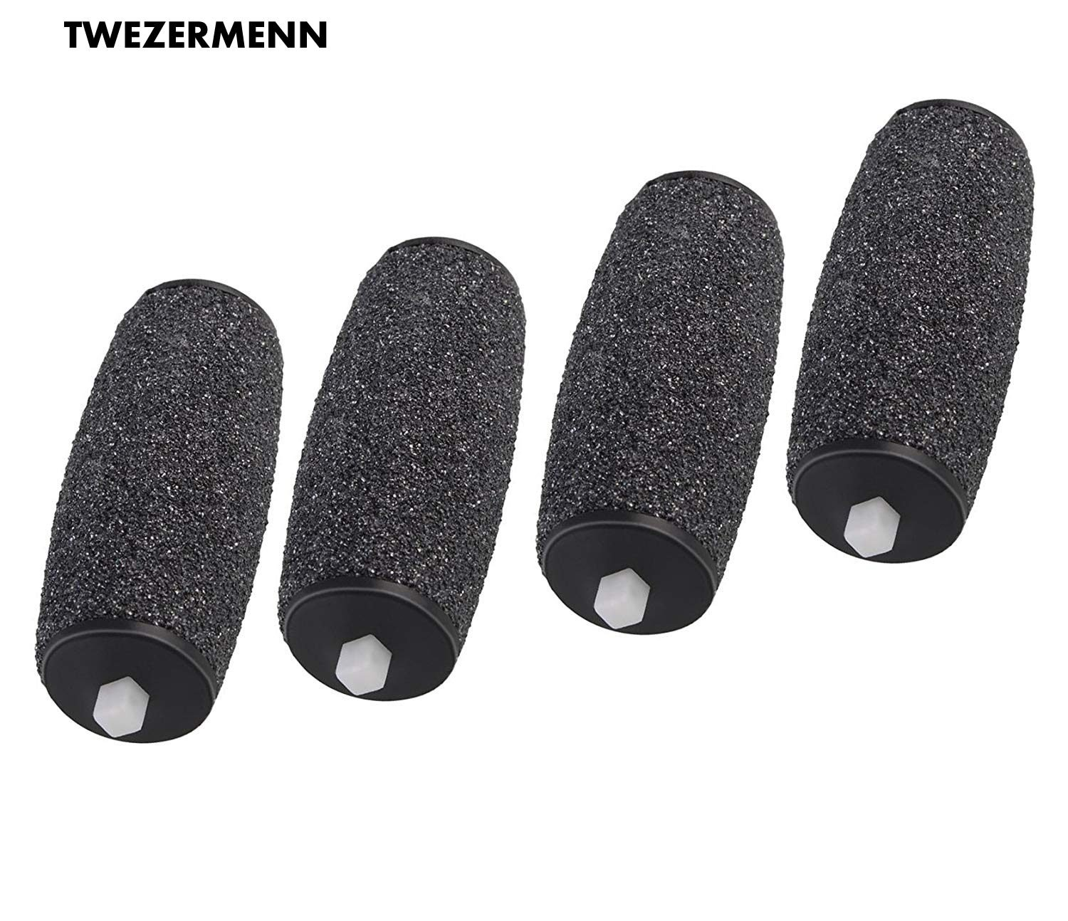 4 x Pedi Hard Skin Remover Coarse Replacement Rollers Compatible with Rollers Pedi Electric Hard Skin Remover Refills TWEZER