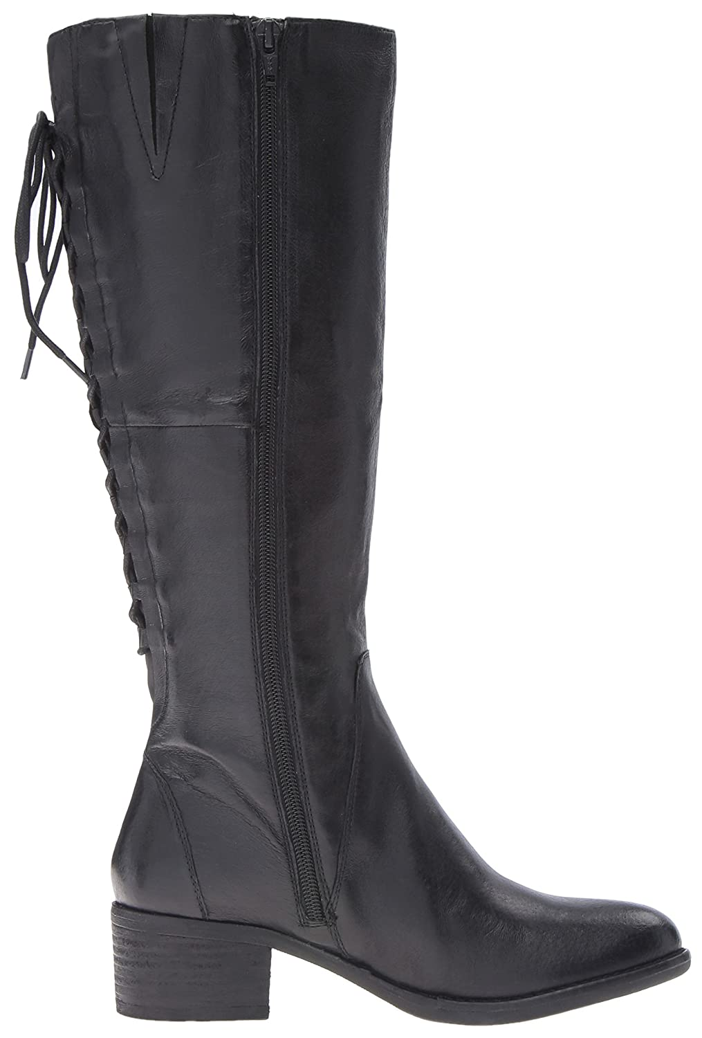 Steve Madden Women's Laceupw US|Black Western Boot B01GF4M1RO 9.5 B(M) US|Black Laceupw Leather 0cdd2a