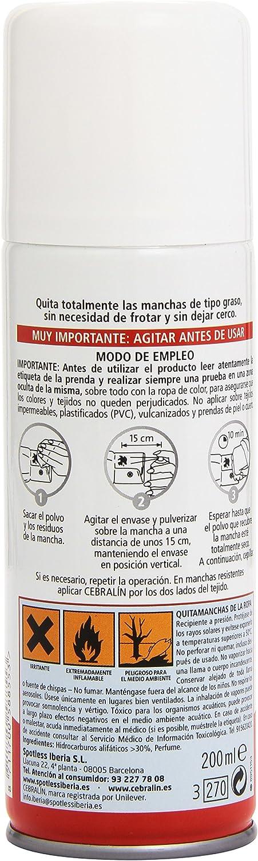 Cebralín Quitamanchas en Seco - 200 ml: Amazon.es: Salud y cuidado ...
