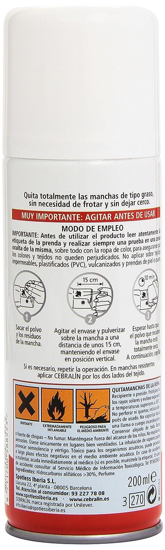 Cebralín - Quitamanchas Expert en Seco, instantáneo - 200ml: Amazon.es: Amazon Pantry