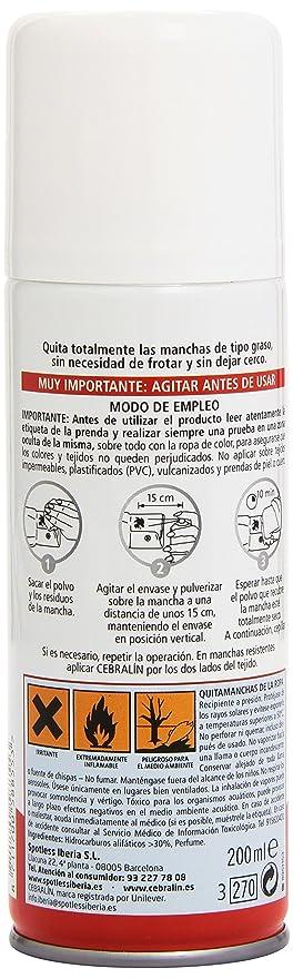 Cebralín - Quitamanchas Expert en Seco, instantáneo - 200ml: Amazon.es: Alimentación y bebidas