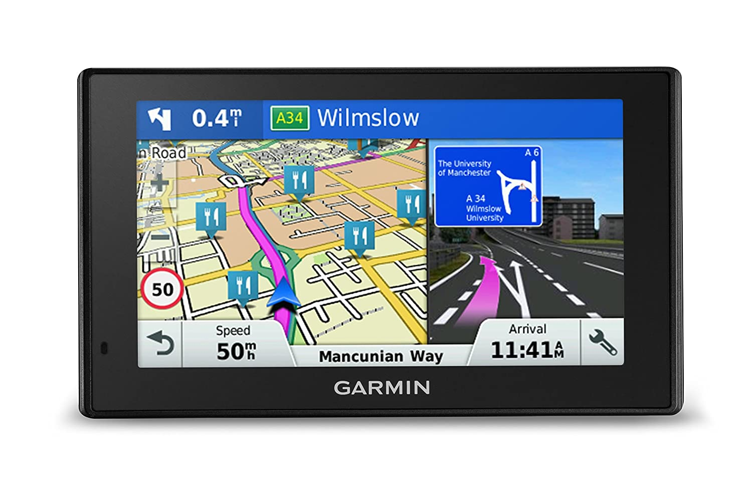 Garmin 010-01539-2C DriveSmart 50LM Satellite Navigation with Western Europe Lifetime Maps - 5 inch, Black