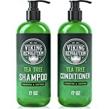 Tea Tree Shampoo and Conditioner Set - Hydrates, Moisturizes & Soothes Dry and Itchy Scalps - With Natural Tea Tree Oil - 17
