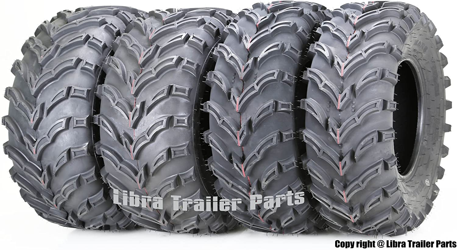 26x11-12 Rear Tire Set 2 6 Ply 4 New MASSFX MS ATV Tires 26x9-12 Front 2