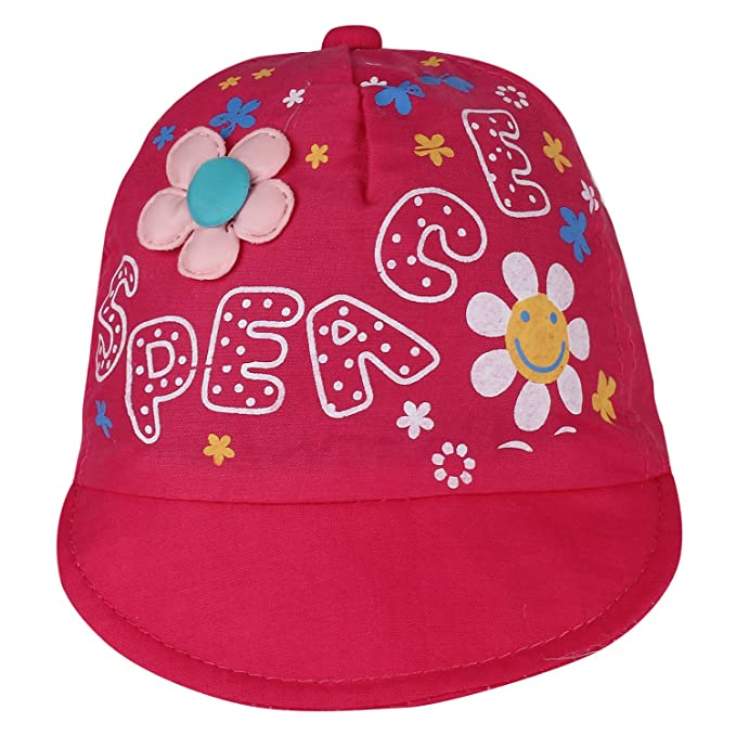 8ffb44ce47f Eccellente New Born Baby Printed Cap - Pink  Amazon.in  Clothing ...