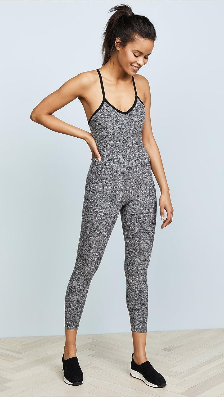 46a8119a54 Amazon.com: Beyond Yoga Women's Spacedye Elevation Capris Bodysuit  Black/White X-Large: Clothing