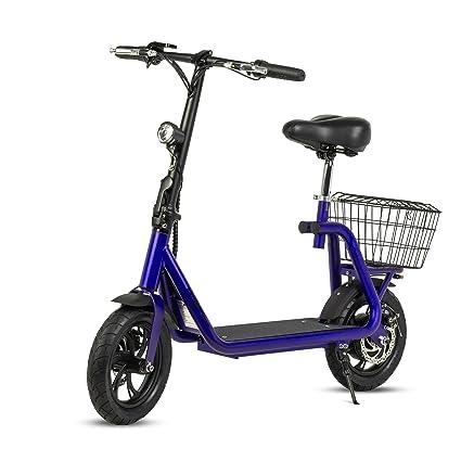 ECOXTREM Scooter eléctrico de Color Azul, diseño Minimalista ...