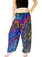Orient Trail Women's Yoga Pajama Tie-dye Hippie Pants Size US 4-14