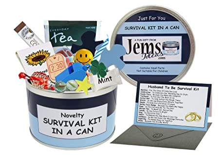 Husband To Be Survival Kit In A Can Humorous Novelty Gift Groom