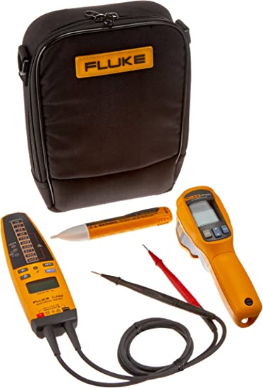 FLUKE 62MAX+//T+PRO//1AC//II IR THERMOMETER ELECTRICAL TESTER VOLTAGE DETECTOR KIT