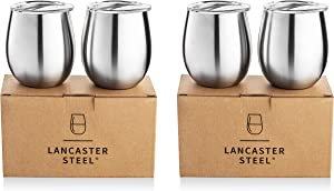 Stainless Vacuum Insulated Wine Tumbler with Lid - 8oz Wine Glass (4)
