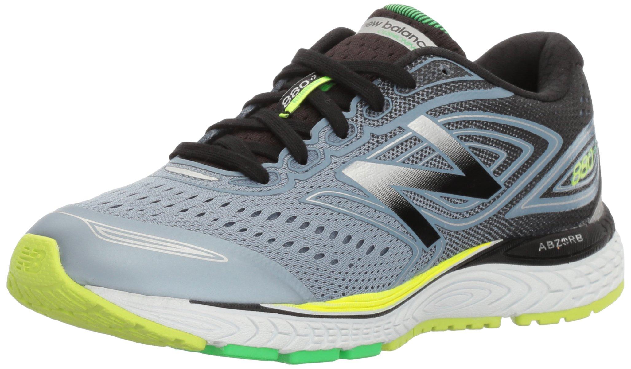 New Balance Boys' 880 V7 Nbx Running Shoe, Grey 1/Green, 4 XW US Big Kid