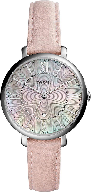 Fossil Reloj Analogico para Mujer de Cuarzo con Correa en Piel