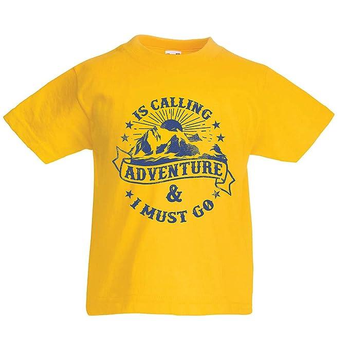 lepni.me Camiseta para Niño/Niña Is Calling Adventure - Ropa de Vacaciones para