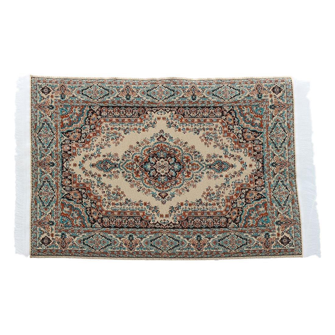 SODIAL(R) 1:12 Dollhouse Miniature Decorative Carpet Interior Modelling 24.2 x 15cm 034980