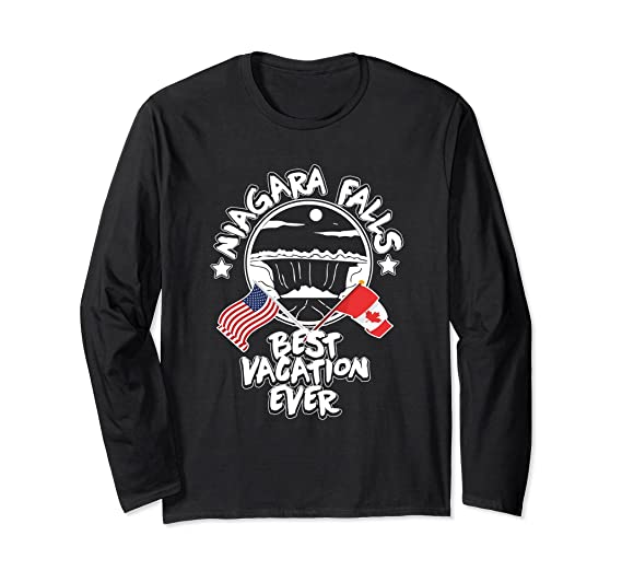 7dd1d9ca6442 Unisex Niagara Falls Best Vacation Ever US Canada Family T Shirt Small Black