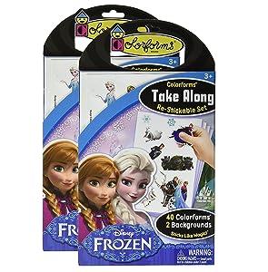 Colorforms Take Along Re-stickable Set - 2 Pack - Disney Frozen