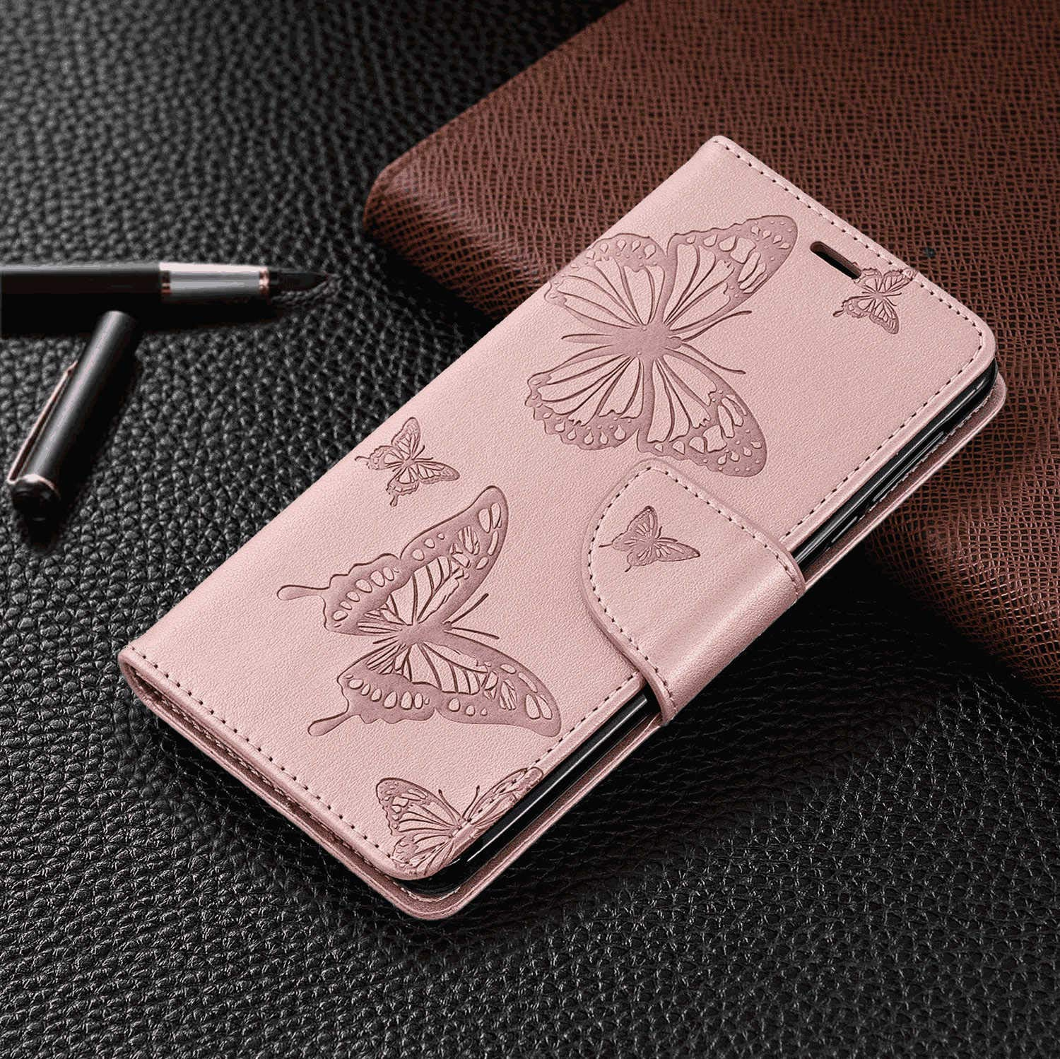 Cover for iPhone Xs Leather Card Holders Wallet case Extra-Protective Business Kickstand with Free Waterproof-Bag Delicate iPhone Xs Flip Case