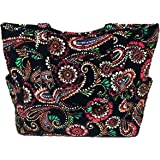 Vera Bradley Pleated Tote Zip Top Bag