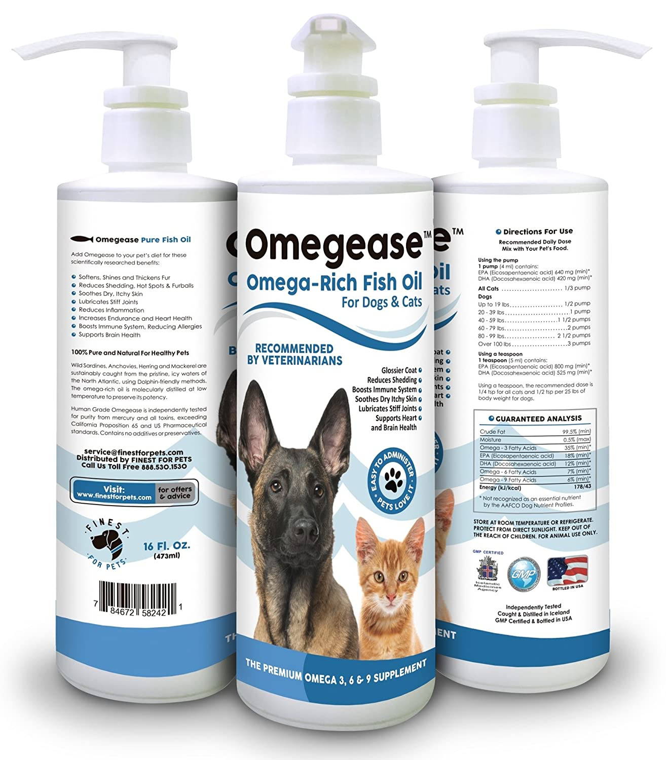 100 pure omega 3 6 9 fish oil for dogs and cats best for Dog food with fish oil