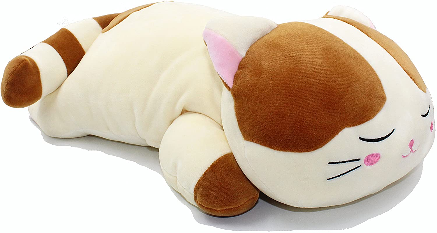 Vintoys Very Soft Cat Big Hugging Pillow Plush Kitten Kitty Stuffed Animals Brown 23.5""