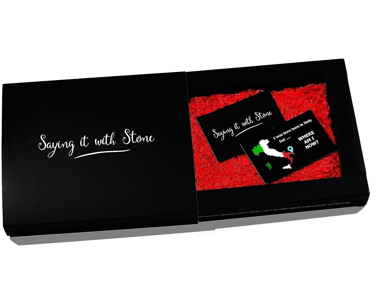 damiti/é de d/évotion Chien Bruno en pierre fait /à la main en Italie Symbole damour Coffret cadeau et carte de message vierge inclus de protection et de loyaut/é Cadeau de No/ël Rescue Dog