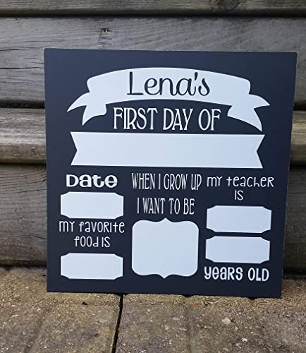 First Day of School Sign Photo Board Prop. OR Last Day of School. Reusable