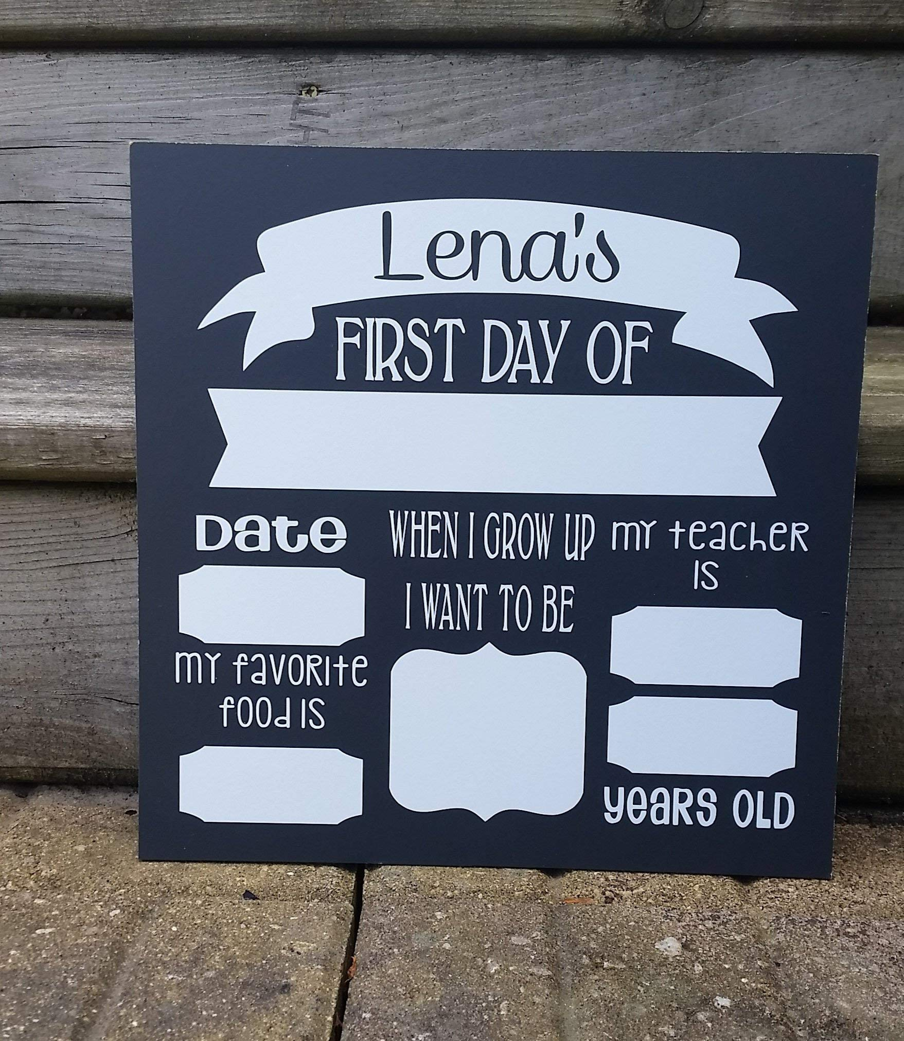First Day of School Sign Photo Board Prop. OR Last Day of School. Reusable. White Board. Chalk Board. Dry Erase.