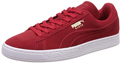 53b2c04dbf2 Puma Suede Classic Debossed Q3 Sneaker - Baskets - Rouge - Rosso (Barbados  Cherry)