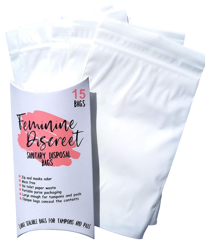 Amazon.com: Feminine Discreet – Bolsas de desecho de tampón ...