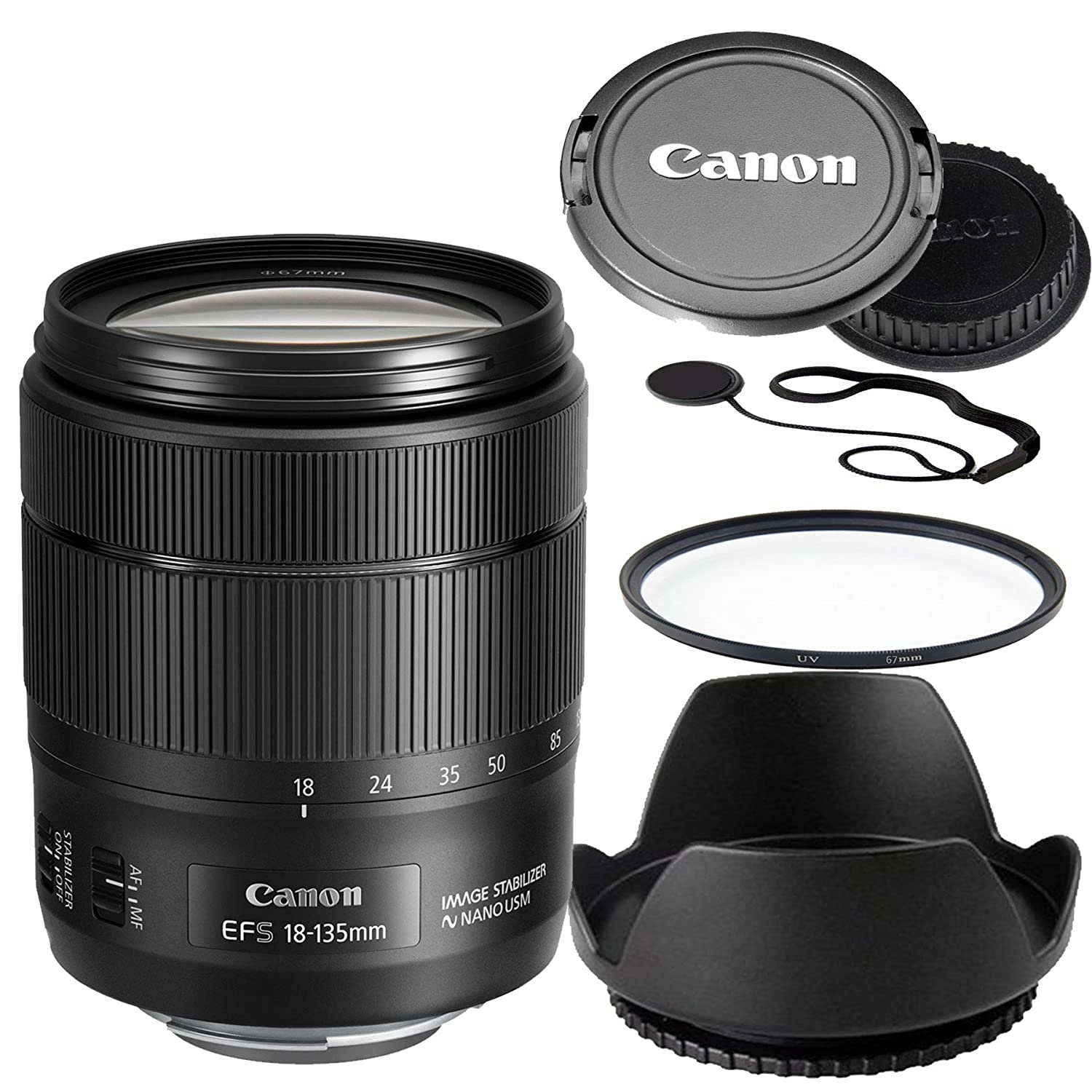 Canon 18-135mm f/3.5-5.6 IS USM Lens(White Box)