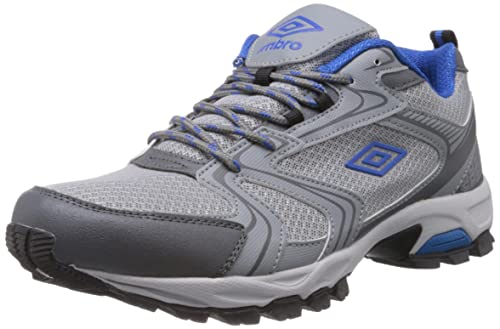 c792edb0c3c Umbro Men s Malmo Grey and Blue Mesh Sport Running Shoes - 6 UK  Buy ...