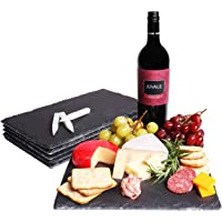 Slate Cheese Boards, Charcuterie Boards for Cheese and Meat (8 x 0.25 x 12 In, 6 Pc)