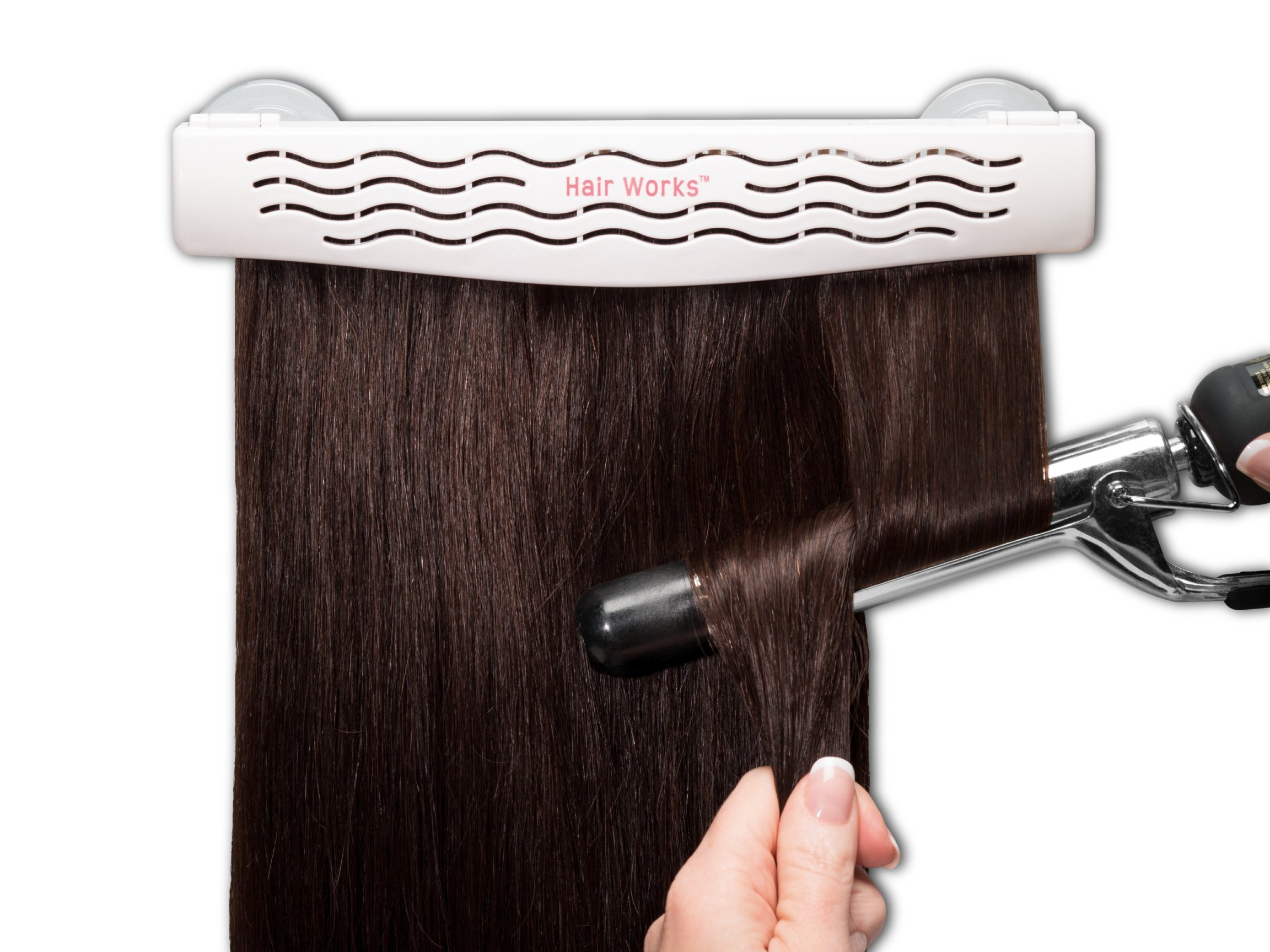 Hair Works 4-in-1 Hair Extension Style Caddy - Lightweight, Waterproof and Portable, This Hair Extension Holder Is Designed To Securely Hold Your Extensions While You Wash, Style, Pack and Store Them by Hair Works