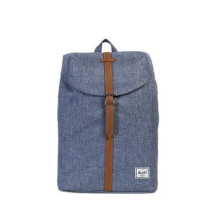 806456bf31e Herschel Supply Co. Post Mid-Volume, Dark Chambray Crosshatch/Tan Synthetic  Leather: Amazon.co.uk: Luggage