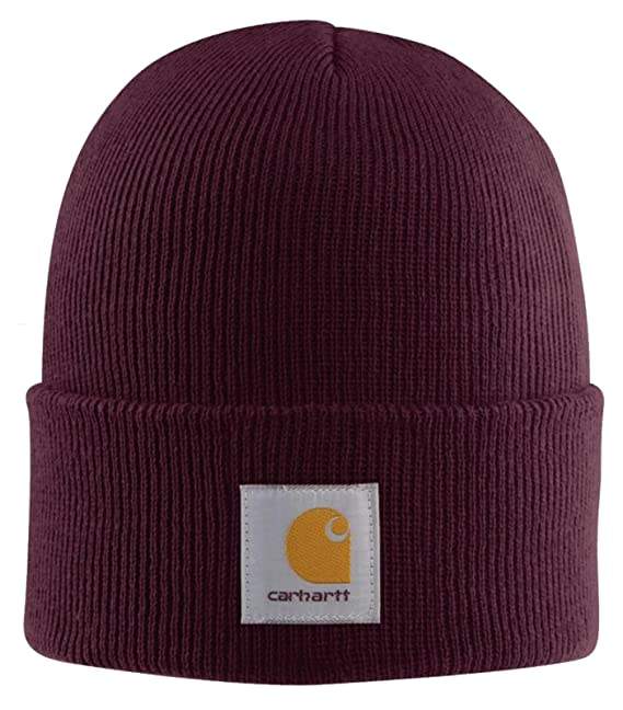 Carhartt , Acrylic Watch cap , Port Iconic Watch Cappello Rosso Scuro  CHA18PRT,Universal
