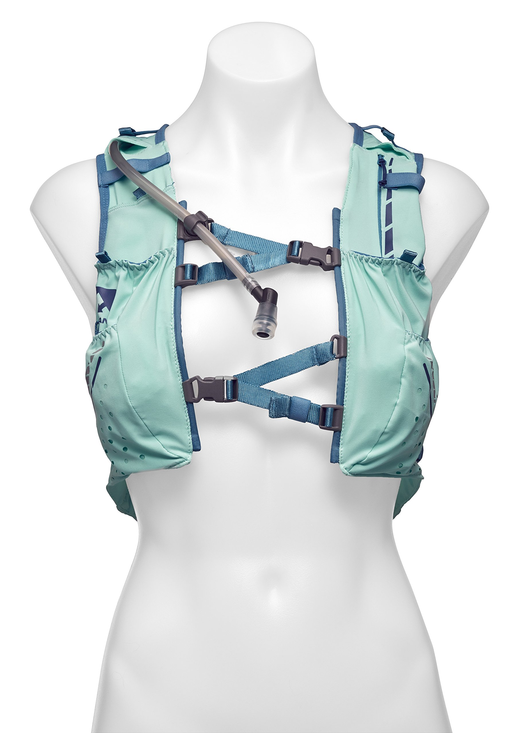 Nathan NS4538 Vaporhowe Hydaration Pack Running Vest with 1.8L Bladder, Blue Radiance, Large
