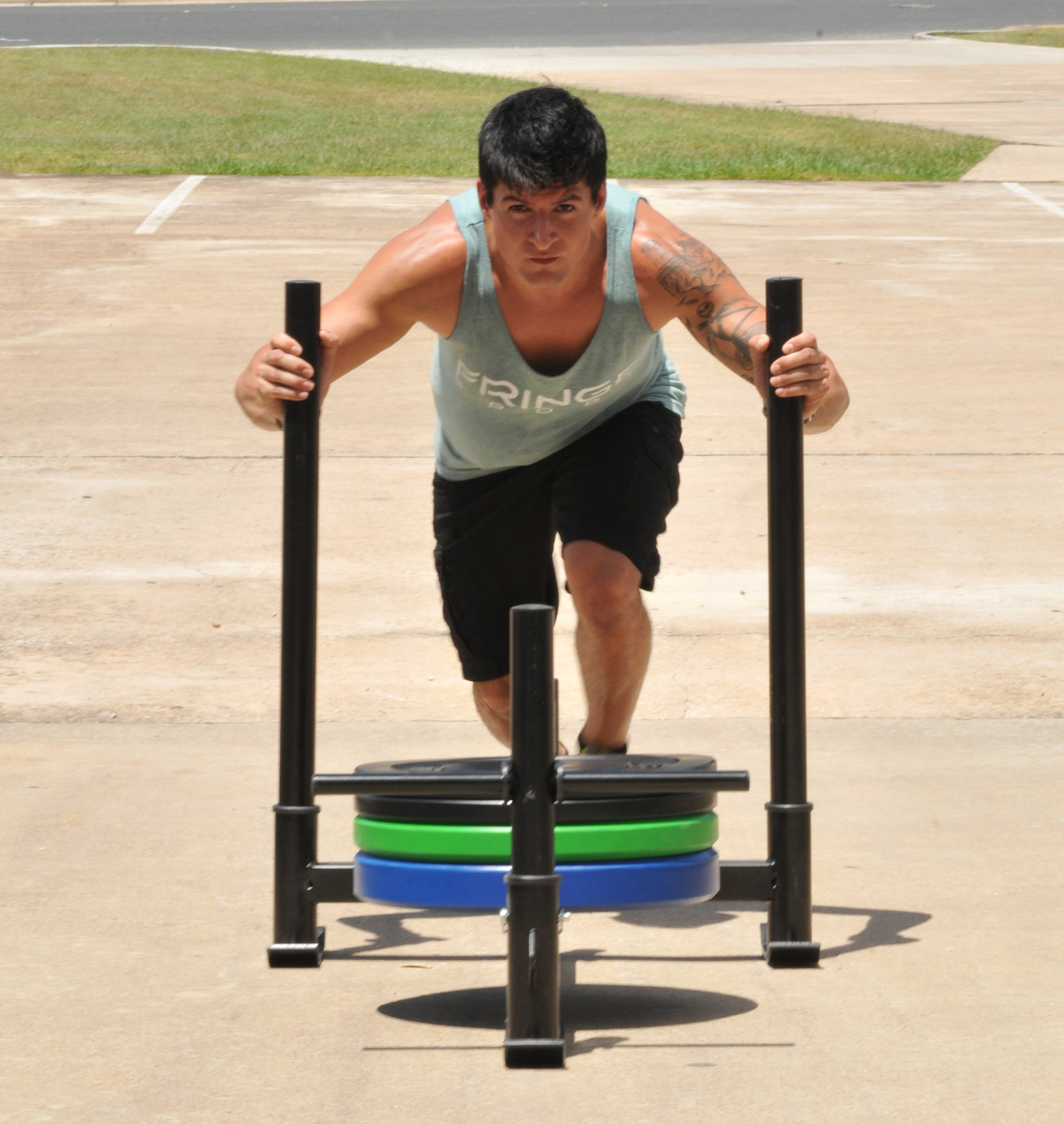Econ ''Prowler'' Push Sled / Add Plates for More Resistance / CrossFit, Resistance, Strength & Conditioning Equipment by OneFitWonder