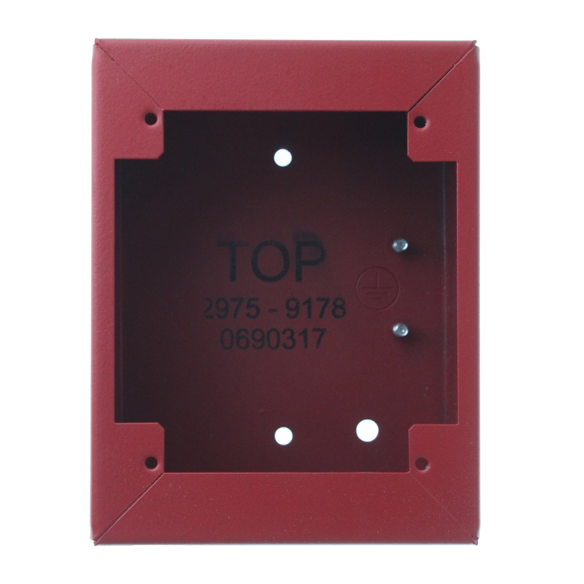 Simplex 2975-9178 0690317 Pull Station Surface Mount Steel Back Box, Red