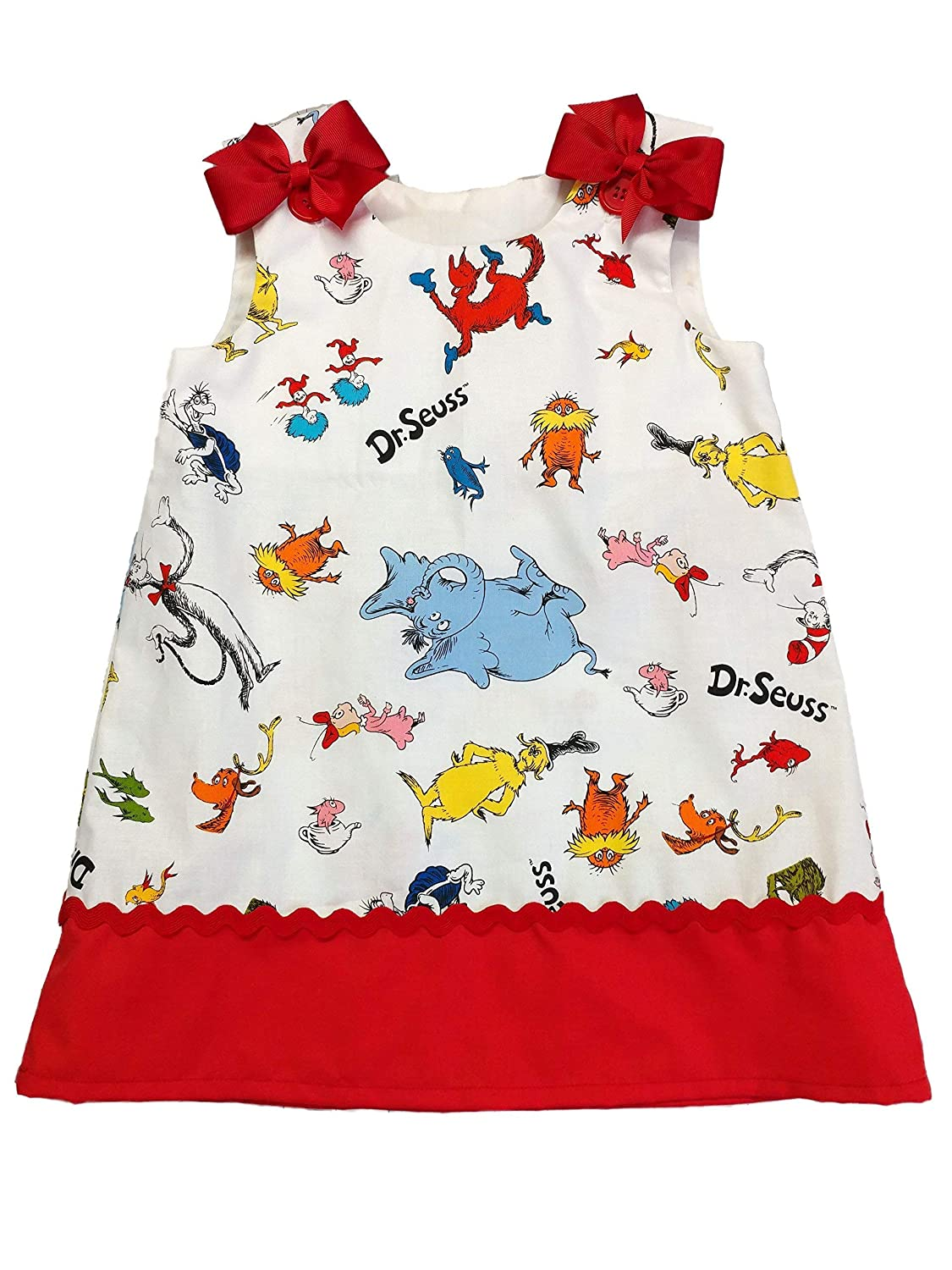 Girls dress Girl Dr Seuss dress Girl Cat in the hat dress Girl Sr Seuss birthday dress Girl dress