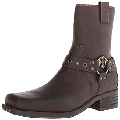 Mark Nason Los Angeles Dragon Collection Collection Men's Finley Harness  Boot,Dark Brown,7