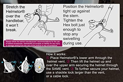 storage lockable unique bicycle helmet holder Helmetor