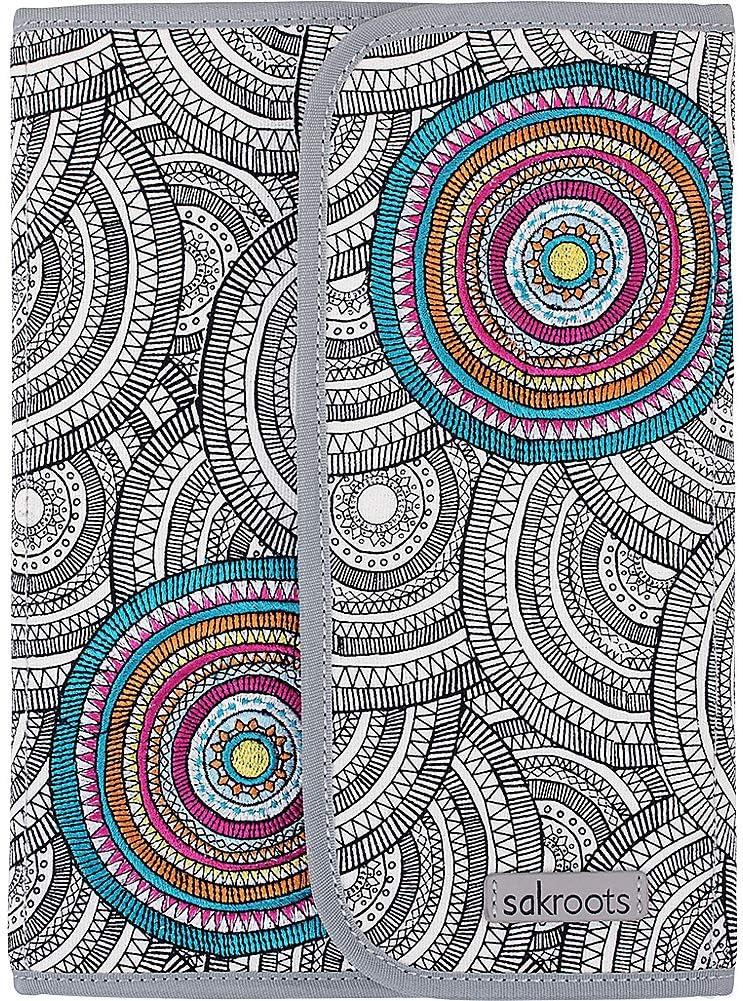 Sakroots Artist Circle Freemont Folio (Black & White Mosaic Wanderlust)