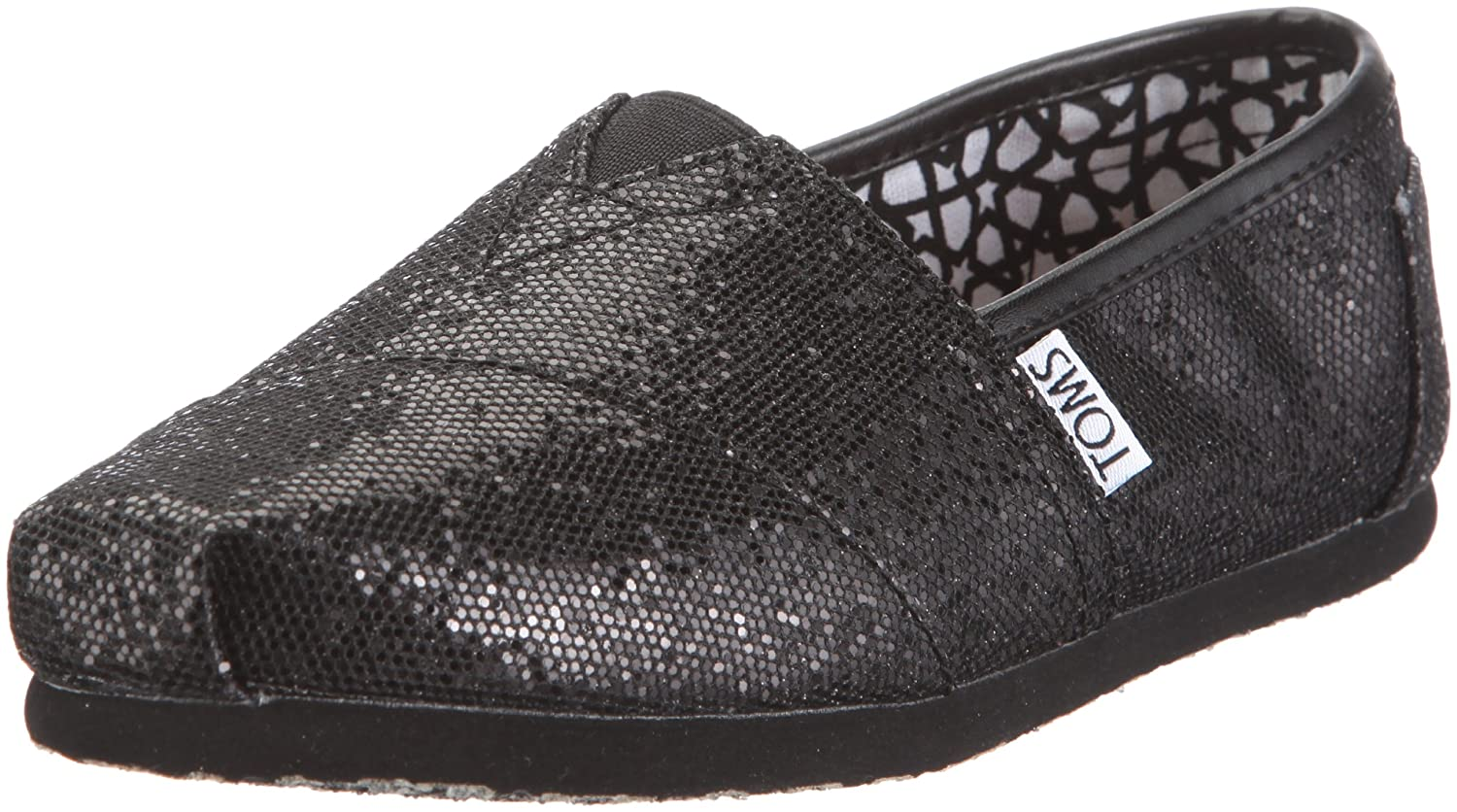 0548cca7b5 Amazon.com | TOMS Shoes Women's Classics Black Glitter Slip-On Shoes |  Loafers & Slip-Ons
