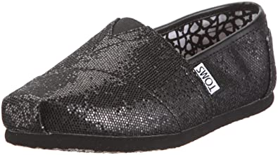 bf69c8ebee71 Image Unavailable. Image not available for. Color: TOMS Shoes Women's  Classics Black Glitter ...