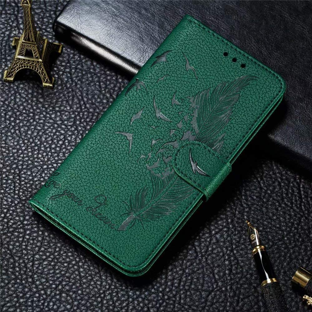 FlipBird Luxury Flip Wallet Case for Huawei Y5 2019 Folding Stand Protective Book Case Cover for Huawei Y5 2019 Flip Fold Kickstand Case with Card Holders