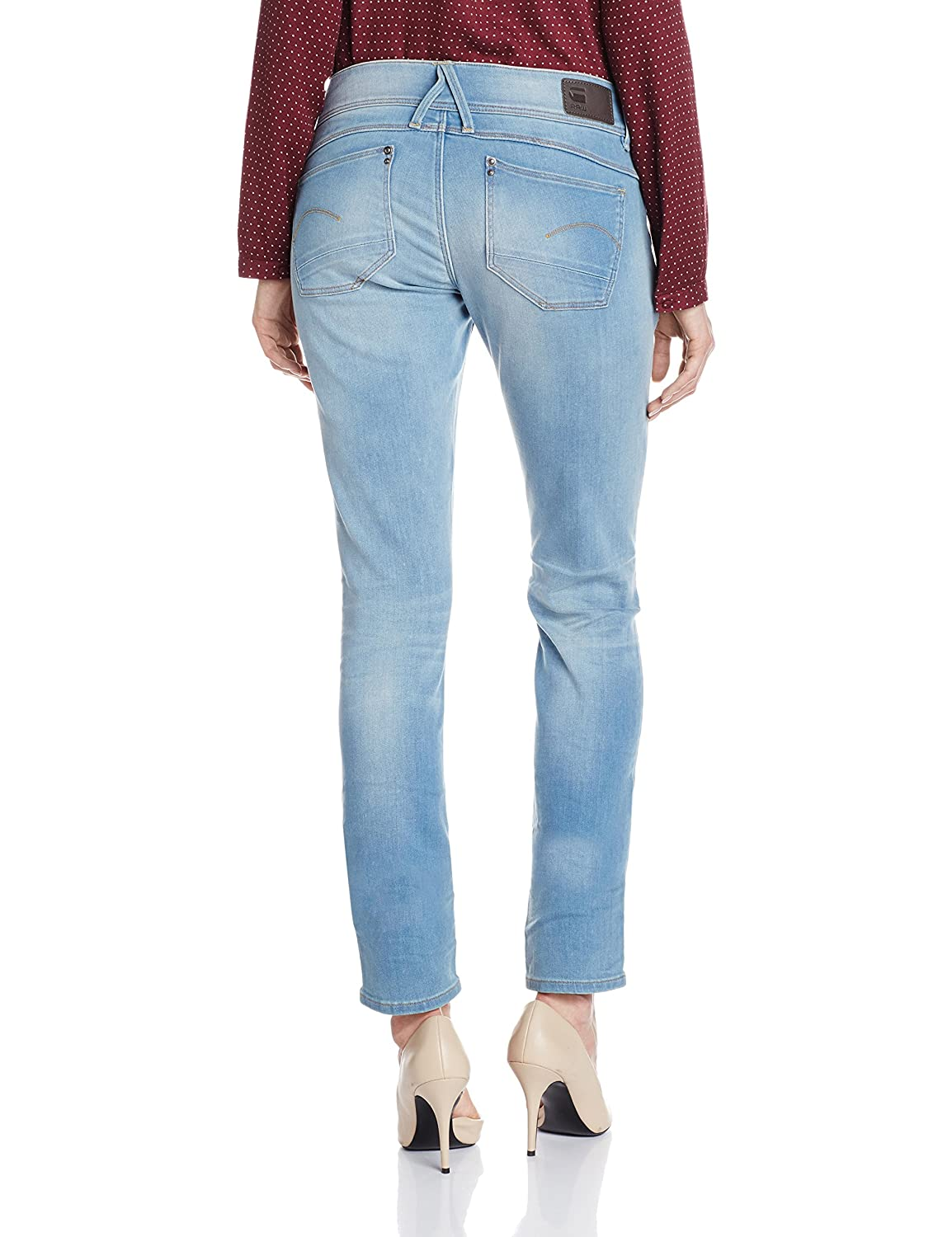 Amazon.com: G-Star Raw Women's Lynn Midrise Skinny Mauro Stretch Denim  Light Aged Jean: Clothing