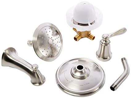 Kohler Vasca Da Bagno : Kohler k r45783 4e bn rubinetto doccia vasca da bagno vibrant